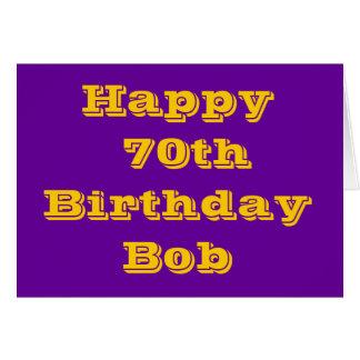 Púrpura y tarjeta de cumpleaños personalizada del