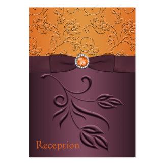 Púrpura y tarjeta floral del recinto de la tarjetas de visita grandes