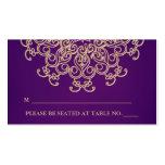 Púrpura y tarjeta inspirada india del lugar del or plantilla de tarjeta personal