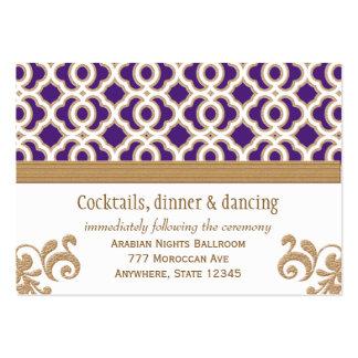 Púrpura y tarjeta marroquí del recinto de la recep tarjetas de negocios