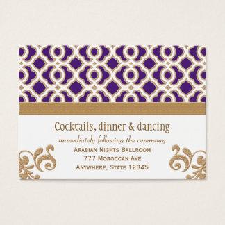 Púrpura y tarjeta marroquí del recinto de la tarjetas de visita grandes
