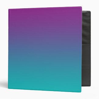 "Púrpura y trullo Ombre Carpeta 1 1/2"""