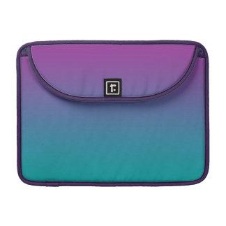 Púrpura y trullo Ombre Funda Para Macbooks
