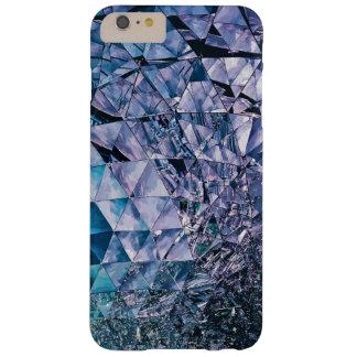 Púrpura y turquesa, TRIÁNGULO y reflexiones Funda Para iPhone 6 Plus Barely There