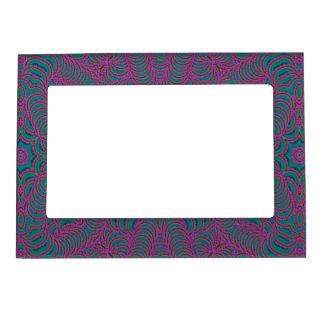 Púrpura y verde marcos magneticos de fotos