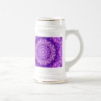 Púrpura y Victorian de la lavanda floral Taza De Café
