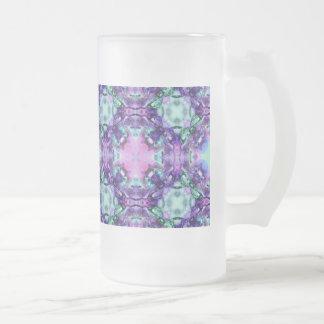 Púrpura y vidrio de modelo del hippy de la taza de cristal