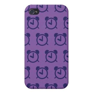 Púrpuras 2 del despertador iPhone 4 carcasas