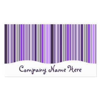 púrpuras: cortina rayada tarjetas de visita