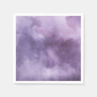 Púrpuras de la acuarela - todas las opciones servilleta de papel
