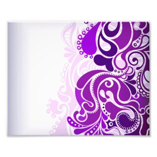 Púrpuras de Paisley Cojinete