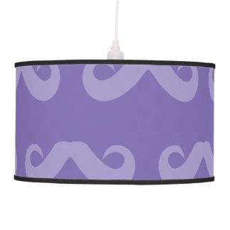 Púrpuras del bigote lámpara de techo