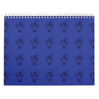 púrpuras del cocinero calendarios de pared