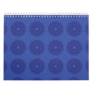 Púrpuras del estampado de plores calendario de pared