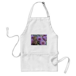 Púrpuras francesas del mercado de la flor delantal