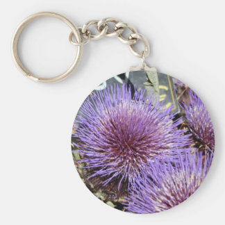 Púrpuras francesas del mercado de la flor llavero