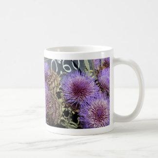 Púrpuras francesas del mercado de la flor tazas