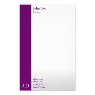 púrpuras profesionales papelería personalizada