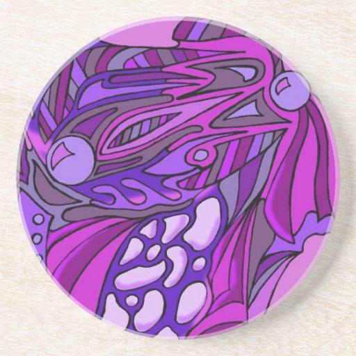 Púrpuras siete posavasos cerveza