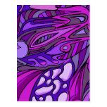 Púrpuras siete postales