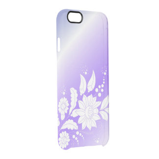 purpure floral clear iPhone 6/6S case