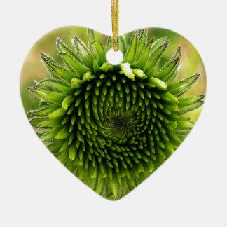 Purpursonnenhut-861 Ceramic Ornament