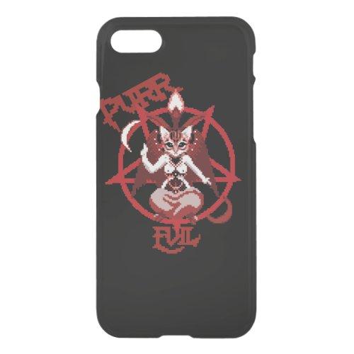 Purr evil cat satanic pixel art cat Phone Case