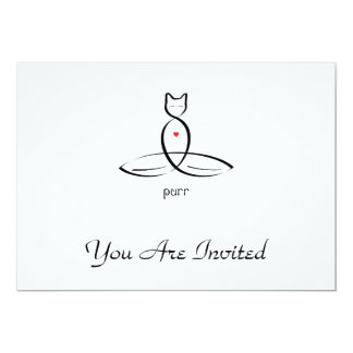 Purr - Fancy style text. Card