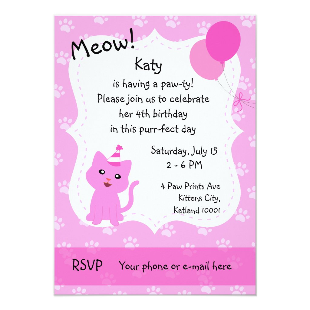 Purr-fect Birthday Pawty Card
