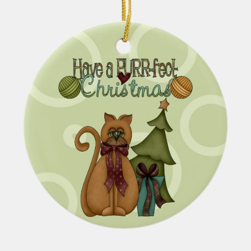 Purr-fect Cat Christmas Ornament