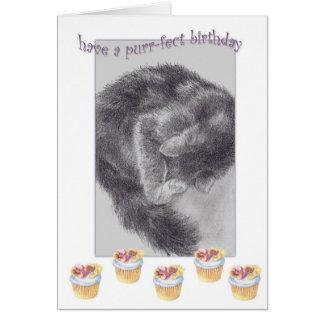 PURR-FECT  CUPCAKE BIRTHDAY GREETING CARD