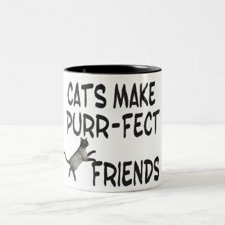 Purr-fect Friends Two-Tone Coffee Mug