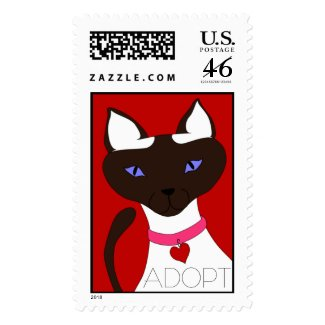 Purr-fect Moira - ADOPT postage - large stamp