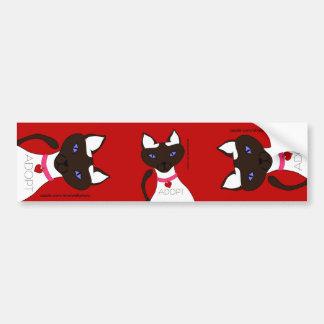 Purr-fect Moira ADOPT Red 3-way Bumper Sticker Car Bumper Sticker
