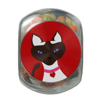 Purr-fect Moira glass candy jar