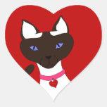 Purr-fect  Moira - heart sticker
