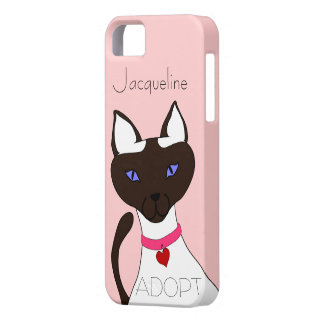 Purr-fect Moira pink ADOPT template iPhone 5 Case