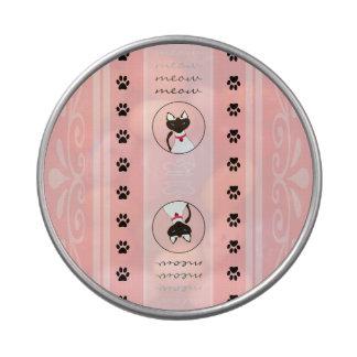 Purr-fect Moira Pink Stripe see-thru round tin Jelly Belly Tin