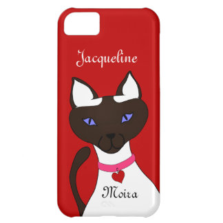 Purr-fect Moira Siamese Cat names red iPhone 5C Case For iPhone 5C