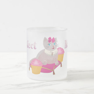 Purr-fect Moments 10 Oz Frosted Glass Coffee Mug