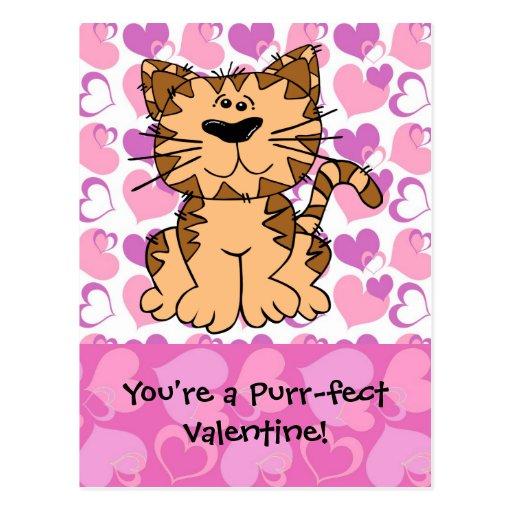 Purr-fect Valentine Post Cards