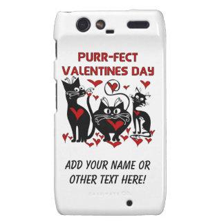 Purr-fect Valentines Day Droid RAZR Cases