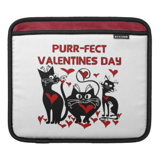 Purr-fect Valentines Day iPad Sleeves