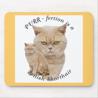 PURR-fection British Shorthair Red/Creme Mouse Pad