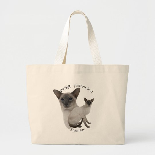 PURR-fection Lilac Point Siamese Large Tote Bag