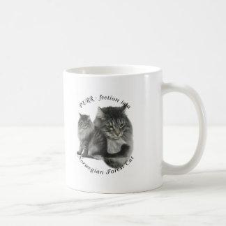 PURR-fection Norwegian Forest Cat Coffee Mug