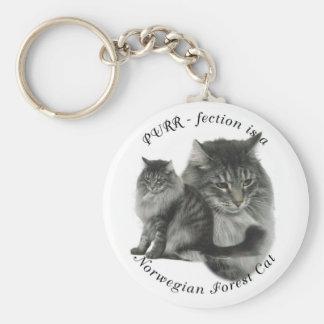 PURR-fection Norwegian Forest Cat Keychains