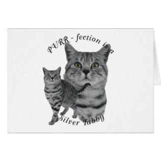 PURR-fection Silver Tabby Card