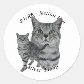 PURR-fection Silver Tabby Sticker