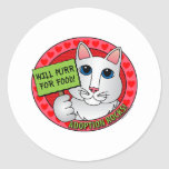 Purr for Food Classic Round Sticker